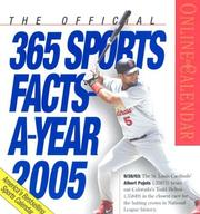 Cover of: The Official 365 Sports Facts-A-Year Page-A-Day Calendar 2005 (Page-A-Day Calendars) | Workman Publishing Company