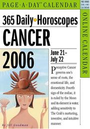 Cover of: 365 Daily Horoscopes Cancer 2006