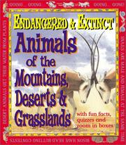 Cover of: Endangered and Extinct Animals of the Mountains, Deserts, and Grasslands | Michael Bright
