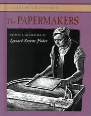 Cover of: The Papermakers (Colonial Craftsmen)