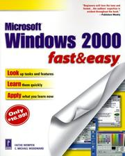 Cover of: Microsoft Windows 2000 Fast & Easy | C. Michael Woodward