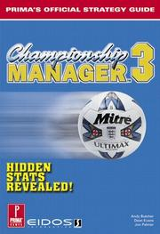 Cover of: Championship Manager 3