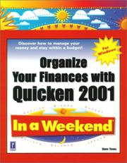 Cover of: Organize Your Finances with Quicken 2001 In a Weekend