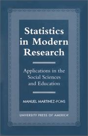 Cover of: Statistics in modern research