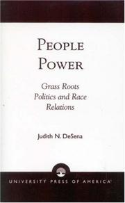 Cover of: People Power | Judith N. DeSena