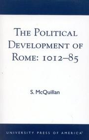Cover of: The Political Development of Rome