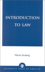 Cover of: Introduction to Law