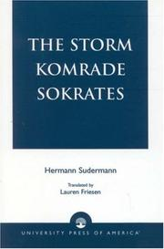 Cover of: The Storm Komrade Sokrates | Friesen Lauren