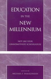Cover of: Education in the New Millennium