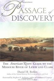 Cover of: Passage of discovery | Daniel B. Botkin