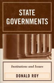 Cover of: State Governments | Donald Roy