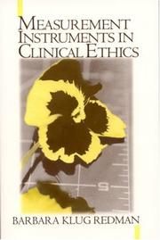 Cover of: Measurement Tools in Clinical Ethics