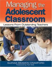 Cover of: Managing the Adolescent Classroom | Glenda Beamon Crawford