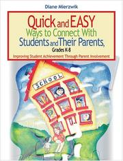 Cover of: Quick and Easy Ways to Connect With Students and Their Parents, Grades K-8