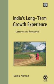 Cover of: India's Long-Term Growth Experience