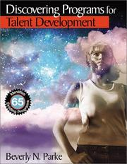 Cover of: Discovering Programs for Talent Development