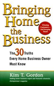 Cover of: Bringing home the business