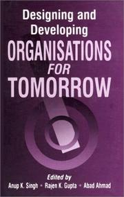 Cover of: Designing and Developing Organisations for Tomorrow (Response Books) |