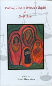 Cover of: Violence, Law and Women's Rights in South Asia