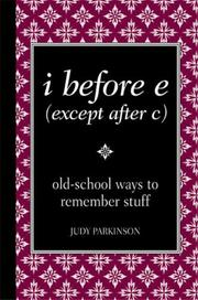 Cover of: i before e (except after c)
