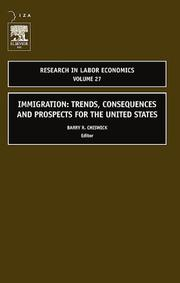 Cover of: Immigration: Trends, Consequences and Prospects for the United States, Volume 27