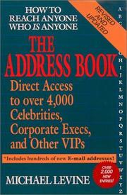 Cover of: The Address Book by Michael Levine
