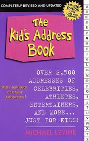 The Kid's Address Book by Michael Levine