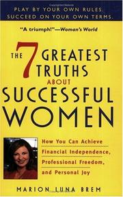 Cover of: The 7 greatest truths about successful women