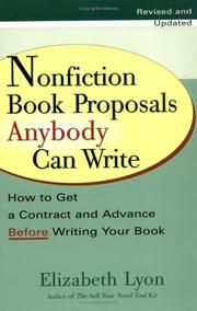 Cover of: Nonfiction book proposals anybody can write
