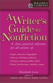 Cover of: A writer's guide to nonfiction