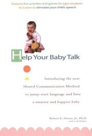 Cover of: Help your baby talk | Robert E. Owens