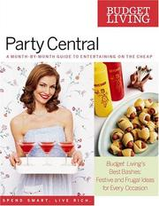 Cover of: Budget Living Party Central | Editors of Budget Living