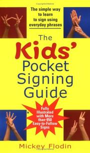Cover of: The Kids' Pocket Signing Guide