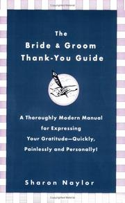 Cover of: The Bride  &  Groom Thank-You Guide