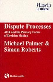 Cover of: Dispute processes