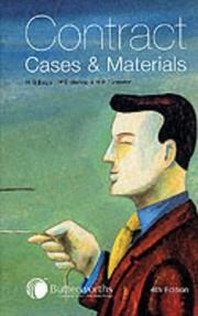 Cover of: Contract: cases and materials