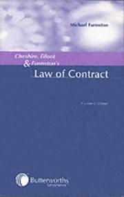 Cover of: Cheshire, Fifoot and Furmston's Law of Contract