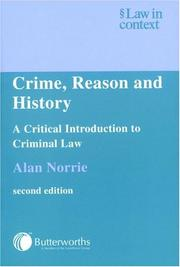 Crime, Reason and History by Alan Norrie