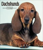 Cover of: Dachshunds Weekly 2003 Calendar |