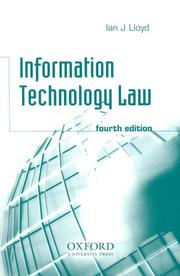 Information technology law by Ian J. Lloyd