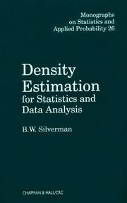 Cover of: Density estimation for statistics and data analysis