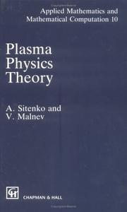 Cover of: Plasma physics theory