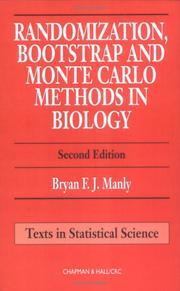 Cover of: Randomization, Bootstrap and Monte Carlo Methods in Biology