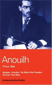Cover of: Jean Anouilh