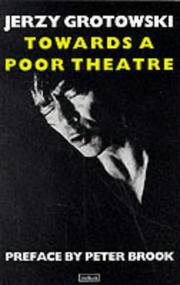 Cover of: Towards a Poor Theatre (Performance Books)