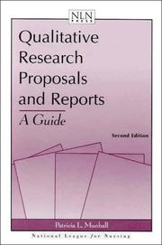 Cover of: Qualitative Research Proposals And Reports | Patricia L. Munhall
