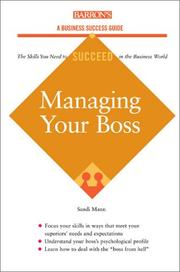 Cover of: Managing Your Boss | Sandi Mann
