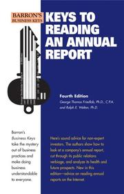 Cover of: Keys to reading an annual report |