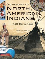Cover of: Dictionary of North American Indians