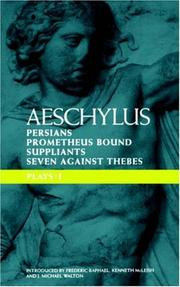 Cover of: Aeschylus Plays 1